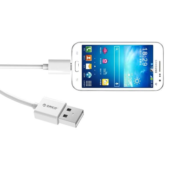 Orico 1.5 meters Micro USB charging cable Fast Charge and data cable - 1.5m White extra long