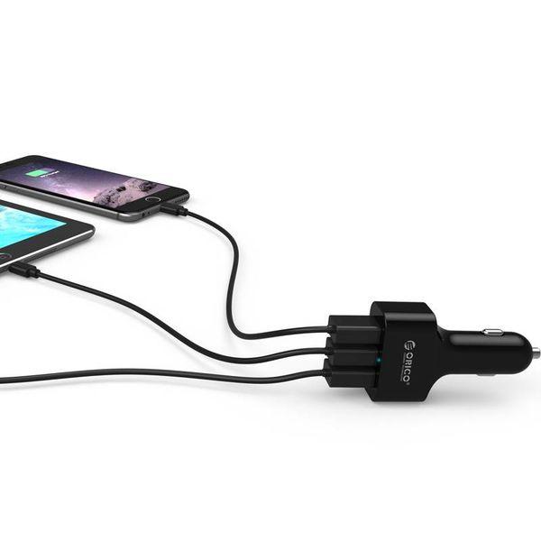 Orico Auto-Ladegerät mit 3 Anschlüssen - Quick Charge 2.0 Schwarz