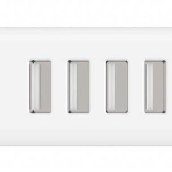 Orico USB3.0 Accueil / Chargeur Voyage avec quatre ports de type A - 2.4A par port - 30W - Blanc