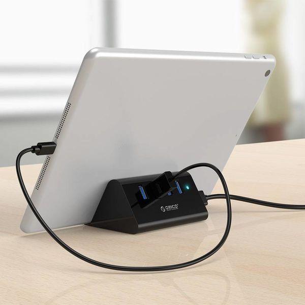 Orico 4-Port-USB-3.0-HUB-Smartphone und Tablet-Halter - Schwarz