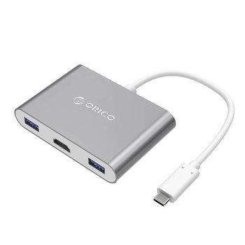 Orico Alu USB-Typ-C-Hub HDMI Konverter für MacBook - grauen Himmel