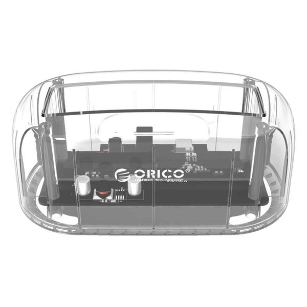 Orico Transparante Docking Station voor 2.5 of 3.5 inch Harde Schijf - USB3.0 - HDD/SSD - SATA - 5Gbps -