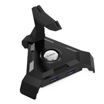 Orico Kabelhouder muis / USB3.0 Hub - 4x USB3.0 Type-A poorten - Zwart