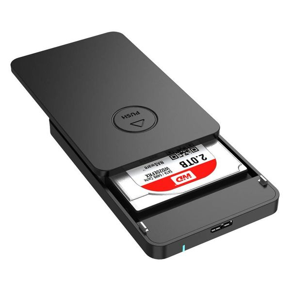 Orico Hard Drive Enclosure 2.5 inch - HDD / SSD - USB3.0 - 5Gbps - UASP - ABS Plastic - Black