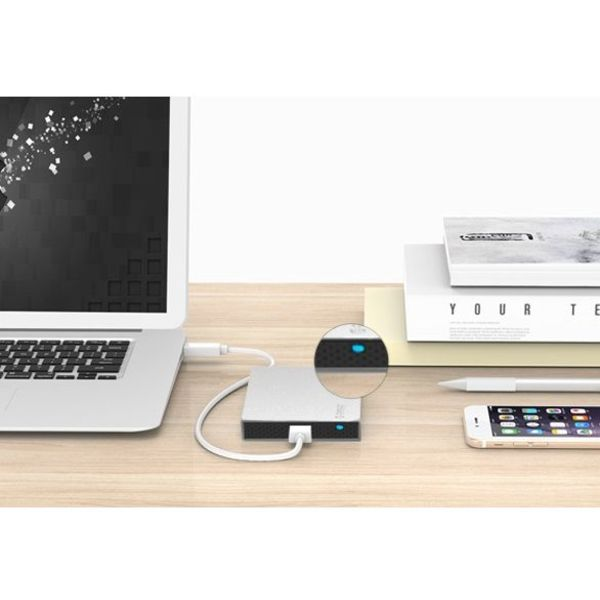 Orico 2.5 inch harde schijf behuizing - aluminium - schroeven - SSD/HDD - USB3.0 - zilver