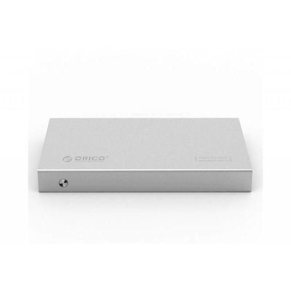 Orico 2.5 inch hard drive enclosure - aluminum - screws - SSD / HDD - USB3.0 - silver