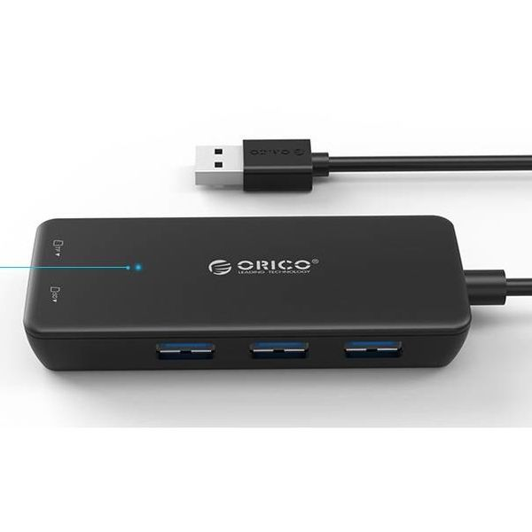 Orico USB3.0 Hub type A / 3 port / Card reader SD / MF / Black