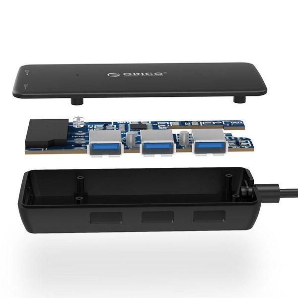 Orico Hub USB 3.0 de type A / 3 ports / lecteur de carte SD / MF / Noir
