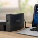 Orico 3,5-Zoll-Festplattengehäuse - USB3.0 - 5 Gbps - mit Schloss - schwarz