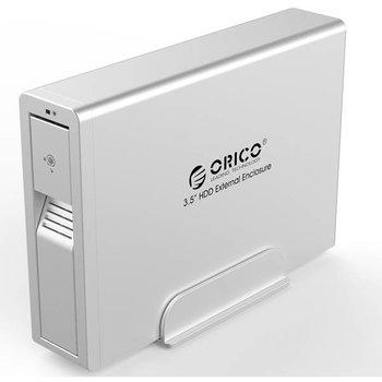 Orico 3.5 inch harde schijf behuizing - met slot - USB3.0 - zilver