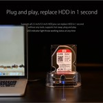 Orico Transparent Docking Station with Type-C connection for 2.5 or 3.5 inch Hard Drive - USB3.0 - 5Gbps -HDD / SSD - SATA