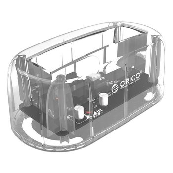 Orico Transparent Docking Station for 2.5 or 3.5 inch hard disk - Type-C - USB3.0