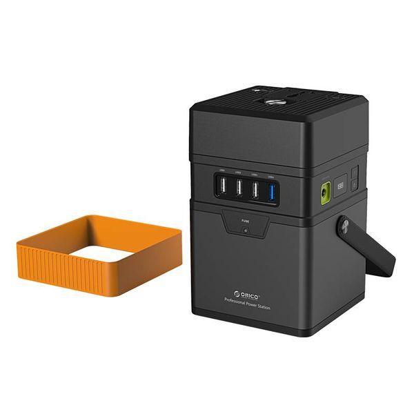 Orico Aluminium 50.000mAh Outdoor Laadstation - Incl. Stroomadapter, Connectoren en SOS-functie - 3x USB-Smart Charge Laadpoorten - 1x USB-laadpoort met QC2.0 - AC-220V