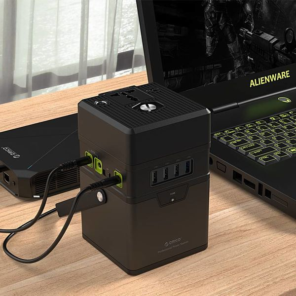 Orico Aluminium 50.000mAh Außenladestation - Inkl. Adapter-Anschlüsse und SOS-Funktion - 3x USB Smart Charge Charge-Anschlüsse - 1x USB-Ladeanschluss QC2.0 - AC 220 V