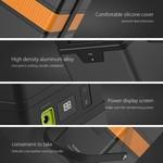 Orico Aluminium 50.000mAh extérieure Station de recharge - Incl. connecteurs de l'adaptateur et la fonction SOS - 3x USB Ports de charge intelligente de charge - port de charge 1x USB QC2.0 - AC 220 V