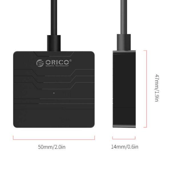 Orico USB3.0 vers SATA III Disque dur Adaptateur - 2,5 pouces HDD / SSD - 5 Gbps - UASP - Longueur du câble 30cm - noir