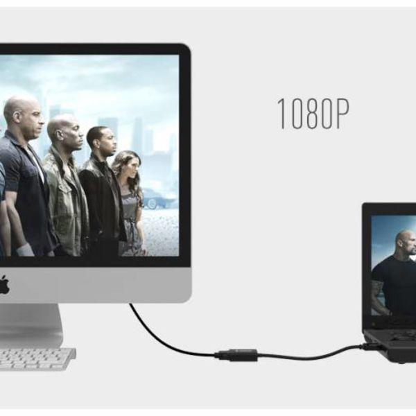 Orico Ein HDMI-auf-VGA-Adapter - Full HD - vergoldet - 17 cm - schwarz