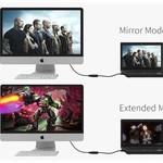 Orico Un adaptateur HDMI vers VGA - Full HD - plaqué or - 17 cm - noir