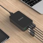 Orico chargeur de bureau avec Quick Charge 2.0 avec cinq ports de charge USB - 2.4A par port - jusqu'à 40W - Noir