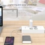 Orico stekkerdoos met vier stopcontacten en vijf USB-laadpoorten - 4000W - Incl. aan/uit schakelaar -  wit