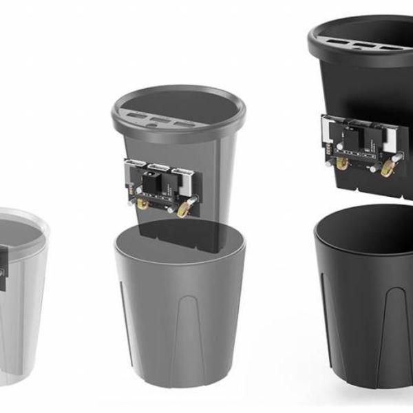 Orico 3-Port USB-Autoladegerät 12V cup - Schwarz