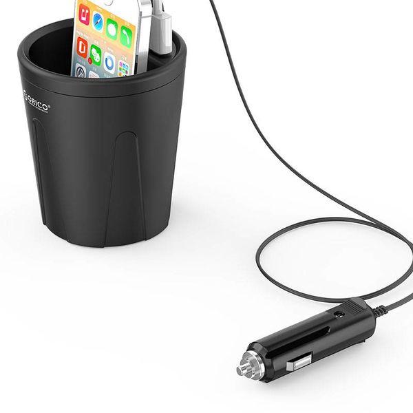 Orico 3 ports chargeur de voiture USB tasse 12V - Noir