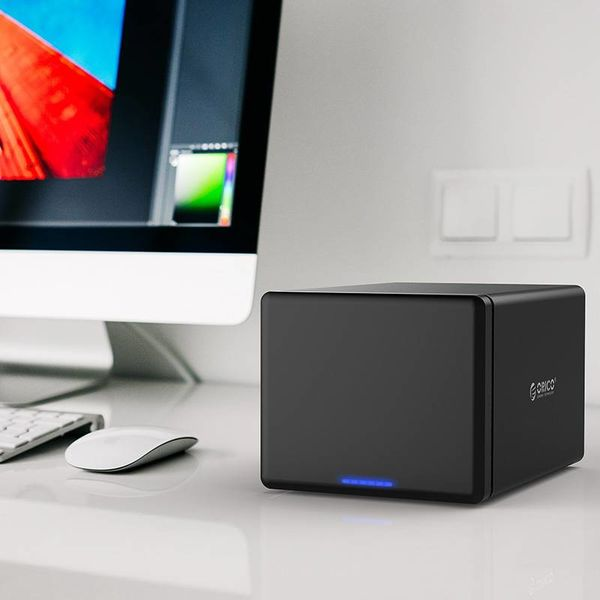 Orico Soft Closing 5 Bay Type-C Harde Schijf Behuizing 3.5 inch SATA HDD/SDD Docking Station zwart
