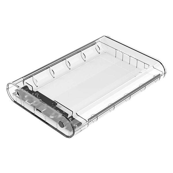 Orico Disque dur transparent du boîtier 3,5 pouces Type C - SATA III - USB3.0 - 5Gbps