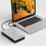 Orico Aluminium 3,5-Zoll-Festplattengehäuse - USB 3.0 - HDD / SSD - SATA I, II, III - 5 Gbps - Inkl. Adapter & Datenkabel - Silber