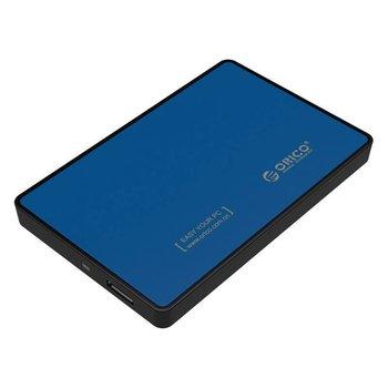 Orico Boîtier pour disque dur 2,5 pouces - HDD / SSD - USB3.0 - Métal et Plastique - Bleu