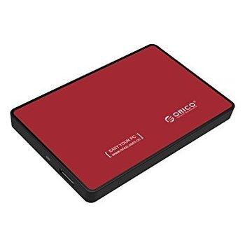 Orico Boîtier pour disque dur 2,5 pouces - HDD / SSD - USB3.0 - métal et en plastique - Rouge