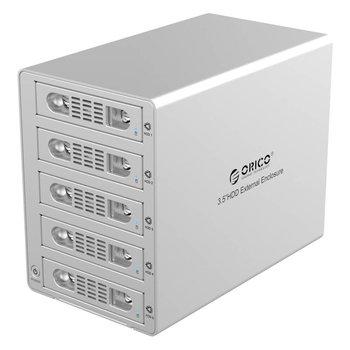 Orico 5 Bay Aluminium Harde Schijf Behuizing - Mac Style Zilver