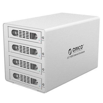 Orico Aluminium 4 Bay 3.5 inch HDD Behuizing - USB3.0