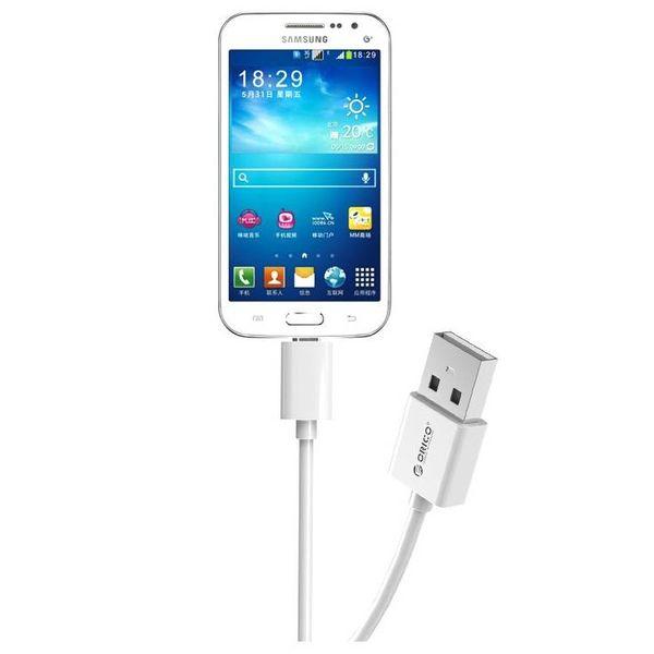 Orico 2 mètres Extra Long Câble - 3 Amp - Charge rapide - Transfert de données - Micro USB - Blanc
