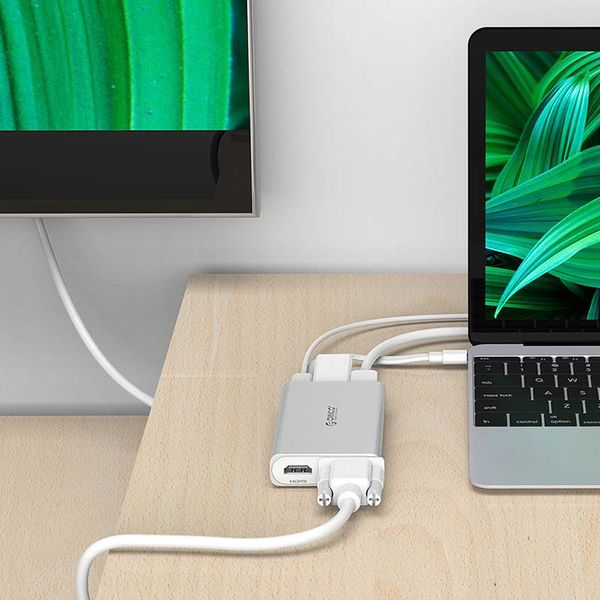 Orico USB Type-C adapter - Multi-functional - 5in1 - 4k HDMI - VGA - Ethernet - Power Delivery - USB 3.1 gen1 - 5Gbps