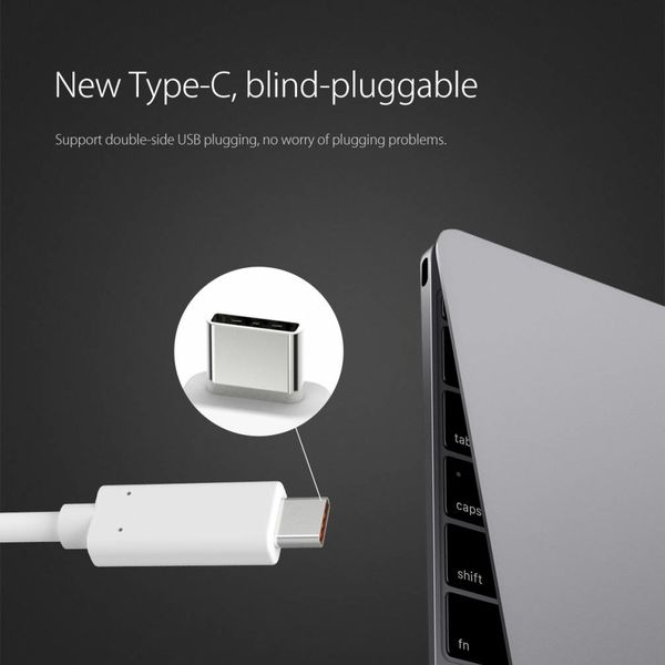 Orico Aluminium Typ C-HDMI-Adapter - 4K Ultra HD - für MacBook Air Mi Notebook-, Huawei-Mate Facebook- und Lenovo YOGA - Mac Style - 15CM Kabel - Silber
