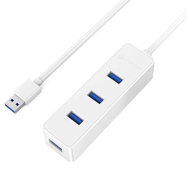 Orico USB3.0-Hub mit vier Typ-A-Ports - 5 Gbps - 30CM USB3.0-Datenkabel - für Windows, Linux und Mac OS - White