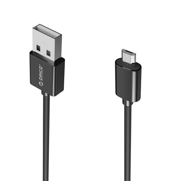 Orico 2 Meter Extra Lange Oplaadkabel – 3 Ampère - Fast Charge – Dataoverdracht – Micro USB – Zwart