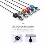 Orico Vijf multifunctionele kabelclips in diverse kleuren - 3M - kabels tot 5mm dik - kabelmanagement