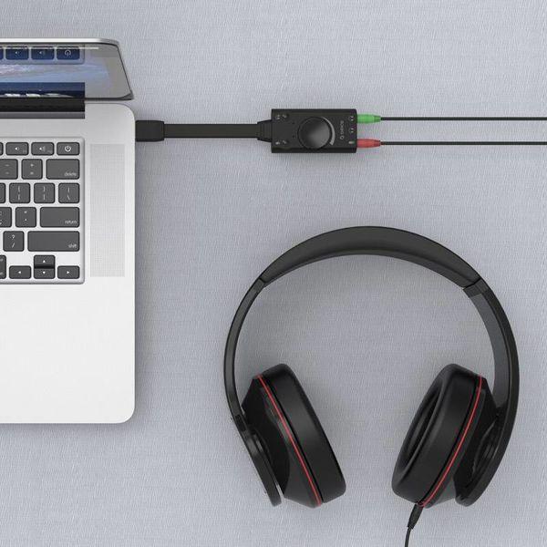 Orico Son externe avec contrôle du volume - stéréo et audio - => 80 dB - Noir