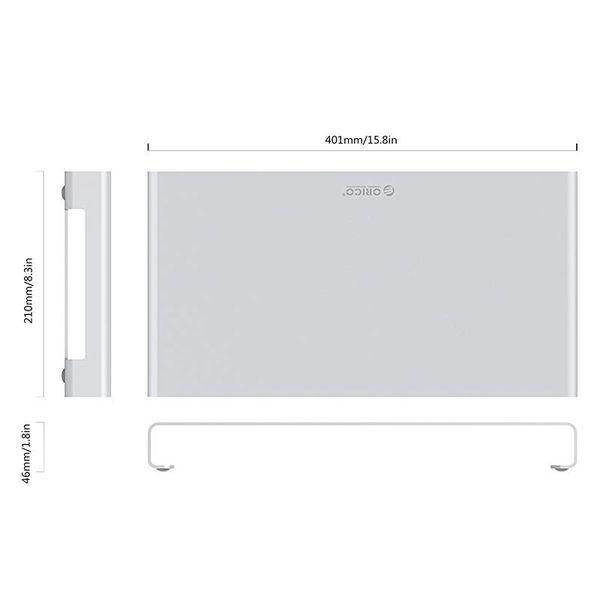 Orico Laptop/Desktop Houder - Hoogwaardig Aluminium - Mac Style - Voor een goede lichaamshouding en een georganiseerd bureau - Zilver