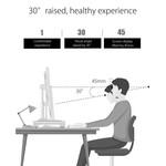 Orico Ordinateur portable / chargeur de bureau - aluminium de haute qualité - Mac Style - Pour une bonne posture et un bureau organisé - Argent