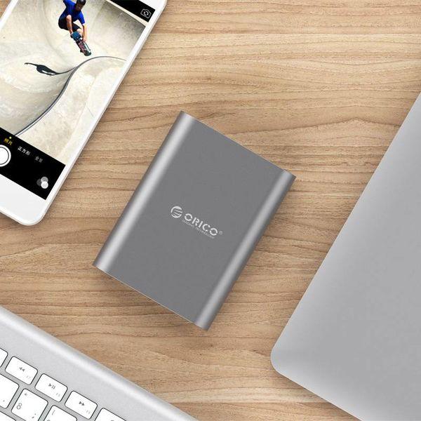 Orico Aluminium Power Bank 10400mAh - Indicateur LED - - Charge rapide 2.0 Chip Intelligent - 36W - ciel gris
