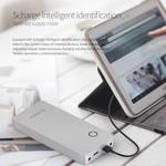 Orico Aluminum 28800mAh Laptop Powerbank - 2x USB charging ports - Li-Po battery - Incl. connectors and plugs - 12V / 16V / 19V - Silver