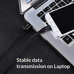 Orico 1 mètre USB de données de type C et câble de charge - 2.4A - Kevlar tressées - Noir