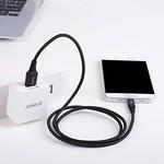 Orico 1 Meter langes USB Typ-C Daten- und Ladekabel - 2.4A - Geflochtene Aramidfaser - Schwarz
