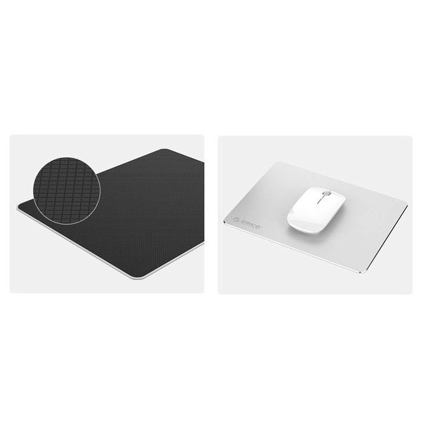 Orico Ultrathin Aluminum Mouse Pad - Suitable for all Computer Mice - 2mm thick - Mac Style - Silver