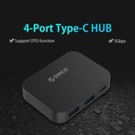 Orico USB3.0 type-C Hub with 2x USB type-A and 2x USB type-C