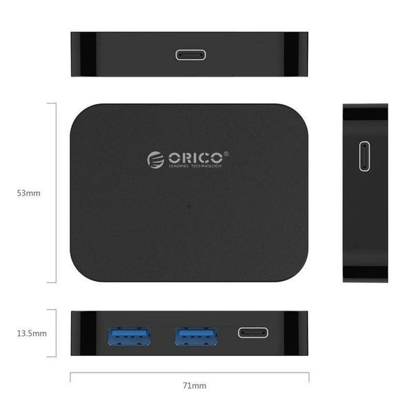 Orico USB3.0 type-C Hub with 2x USB type-A and 2x USB type-C