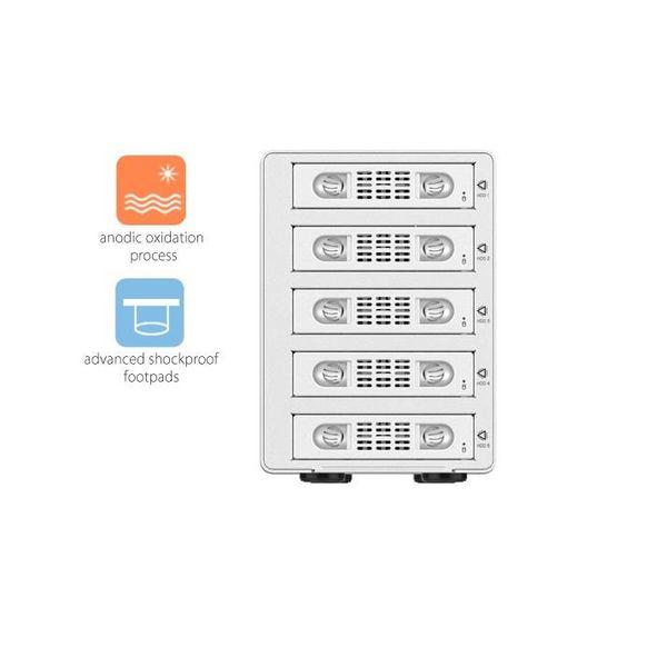 Orico USB SATA Aluminium 3,5 pouces 3.0 et eSATA - argent